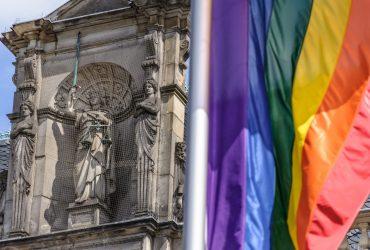 LGBT, Rechte, Gerechtigkeit, Flagge, Demo, bunt