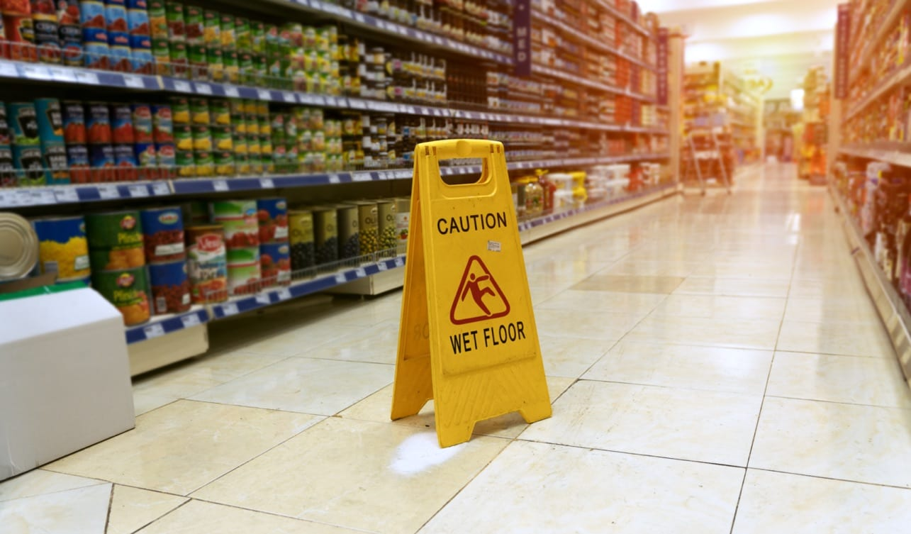 Slip and Fall No Wet Floor Sign
